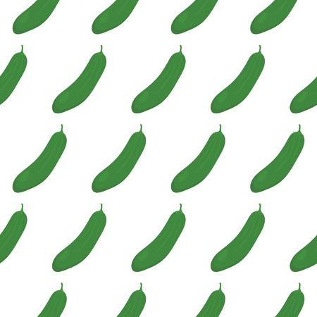 cucumbers: Seamless pattern with green cucumbers Illustration