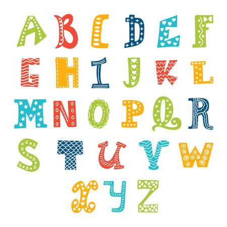 Cute vector alfabet op een witte achtergrond. Brieven. vector illustratie