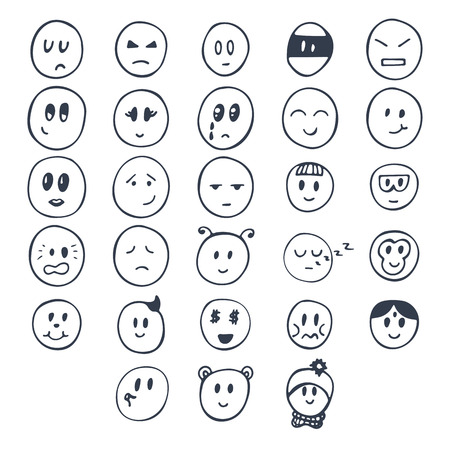 Funny typed faces