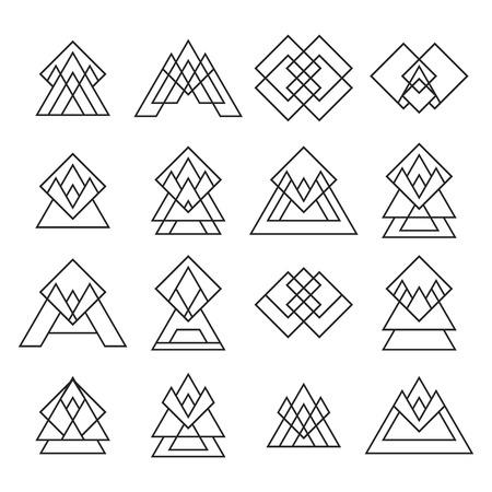 trendy: Set of trendy geometric shapes. Geometric icons.