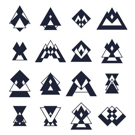 trendy: Set of trendy geometric shapes.
