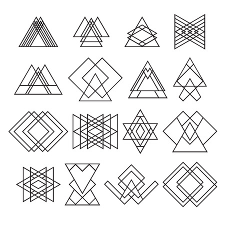 Set of trendy hipster geometric shapes.