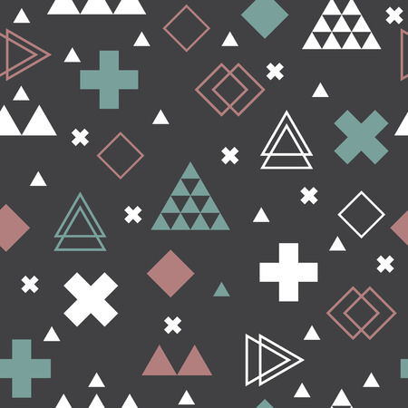 Abstract tribal background. Geometric scandinavian seamless pattern
