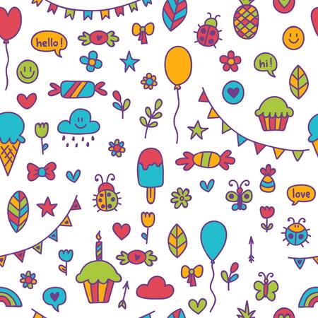 Fondo Para Niños Y Niñas Lindos. Garabatear A Los Niños Dibujando El ...