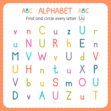 Find and circle every letter u worksheet for kindergarten and find and circle every letter u worksheet for kindergarten and preschool exercises for children ibookread