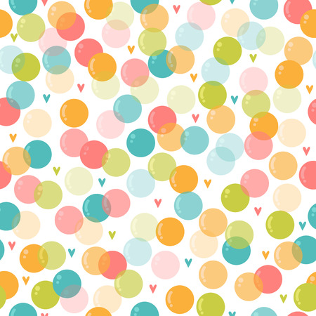 Cute seamless pattern with soap bubbles for kids. Background for children party. Birthday card. Vector illustration