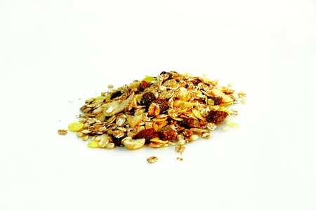 beneficial: Muesli Fruit beneficial to our bodies.