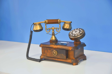 The phone is designed in the style of an antique.