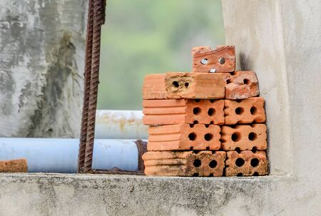 durable: Clay can be made into a cube can be burned and the soil to make it more durable. Stock Photo