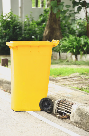 Bins were placed at various points for the rest of the items used. Stock Photo