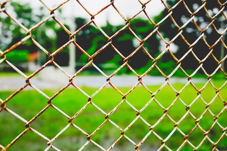 iron curtain: Where there is a personal or people outside the area that controls often create obstacles that are strong, and the chosen one is used in steel mesh. Stock Photo