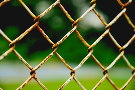 Where there is a personal or people outside the area that controls often create obstacles that are strong, and the chosen one is used in steel mesh. Stock Photo