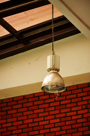 electric fixture: Installing electric lamps hanging, which must be on a high when used in a while, it will be difficult for dust and filament captured, making it look dirty.