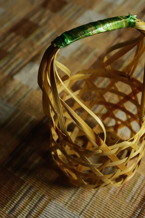 At present, in some areas also use bamboo basket weave together. Stock Photo