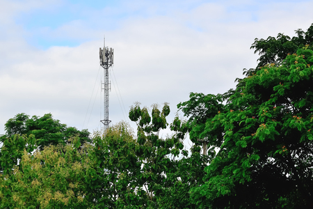 Current communication must be fast. The installation of telephone towers must be sufficient to use. Stock Photo