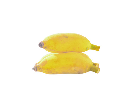 Cultivated banana is a fruit with many vitamins and many inexpensive can be processed into many snacks. Stock Photo