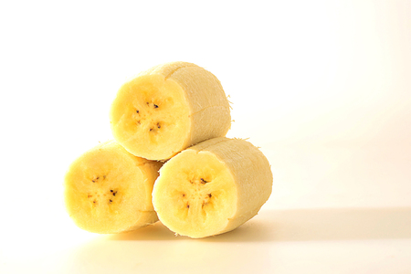 Cultivated banana is high in vitamin A and affordable, it is very popular to eat. 스톡 콘텐츠