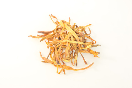 Dried daylily can be a component of many foods. 写真素材
