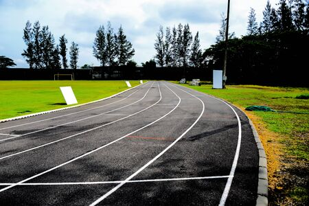 Race track types that often use competitive speed are often competing in the stadium to make it easier to judge and control.