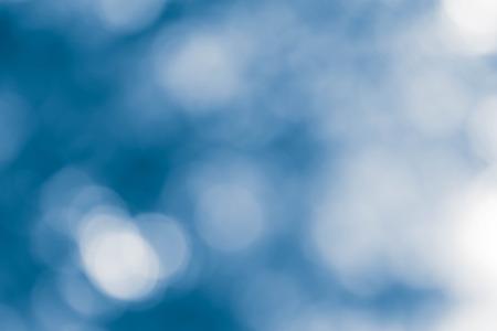 bokeh luces sobre fondo azul