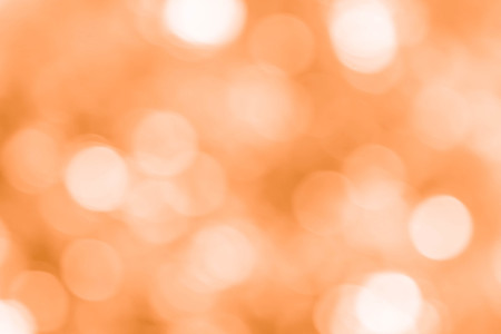 Abstract Bokeh Lights on Orange Background