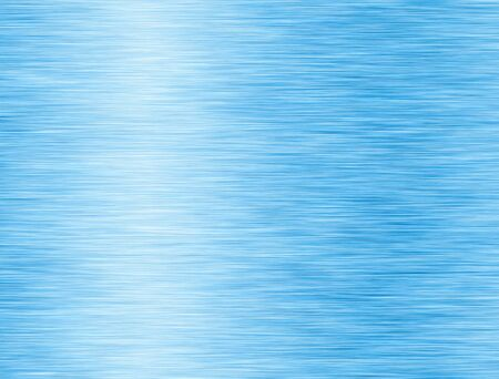 Metal blue background or texture of brushed steel plate with reflections