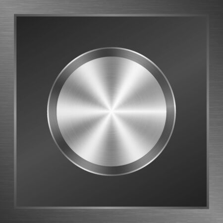 aluminum: Polished metal button texture background