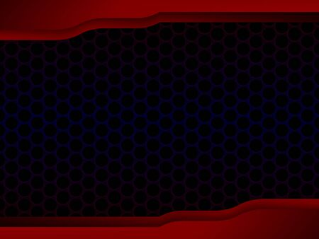 Abstract honeycomb black design with red frame, concept illustration.