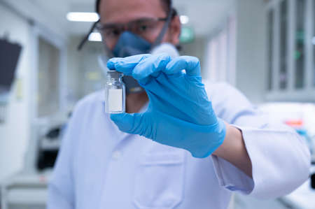 Scientists are preparing a vaccine to be placed in sterile boosters for use in patients infected with the pandemic virus.