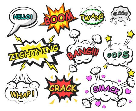 Comics speech bubbles elements Illustration