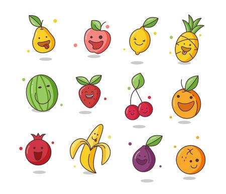 Crazy fruits illustration