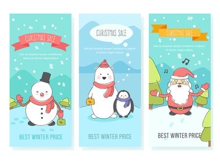 Christmas sale banner collection