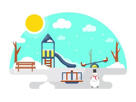 Kids playground winter