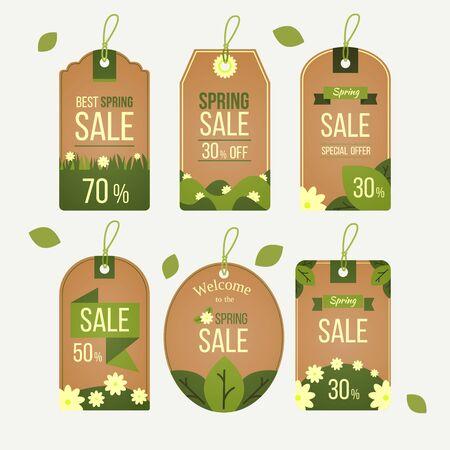 Spring style sale label Illustration