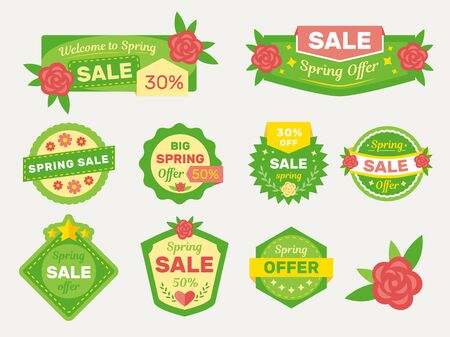 Spring sale labels collection