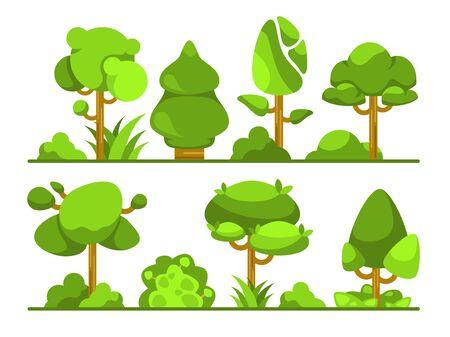 Set of different trees type Illustration