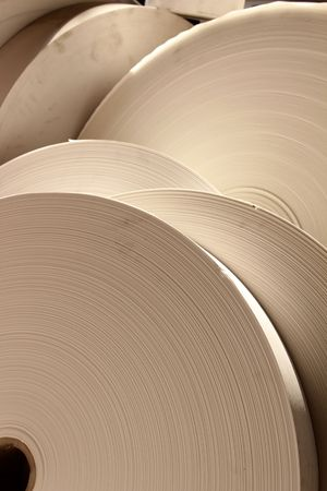 industry communication: roll paper Stock Photo