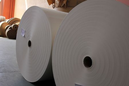 roll of paper: roll paper Stock Photo