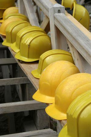 hard working people: helmet Stock Photo