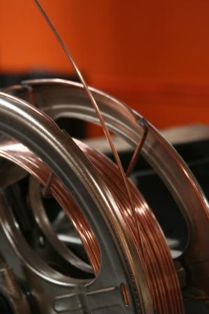 alambre de cobre photo