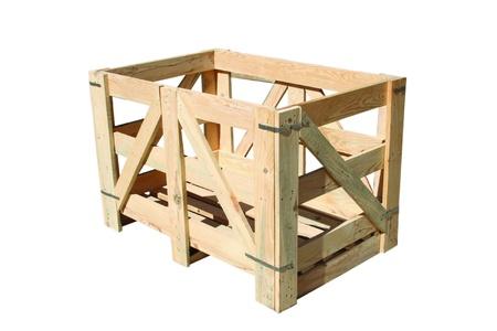door casing: safe wood Stock Photo