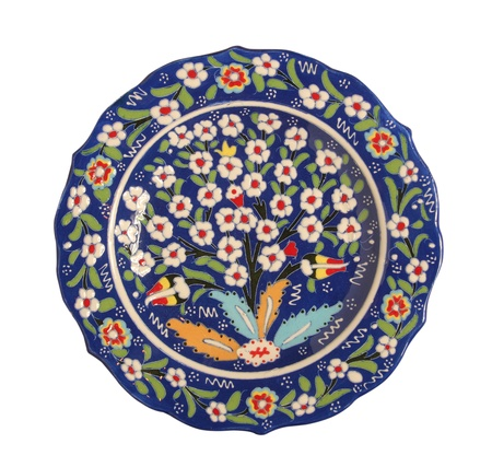ottoman: porcelain plate Stock Photo