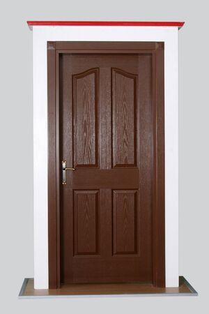 lumber room: wood door