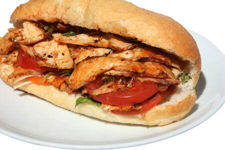 sandwich au poulet: Enveloppement de poulet Banque d'images