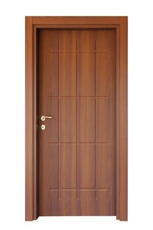 entry admission: wood door