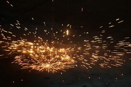 corte laser: soldadura Foto de archivo