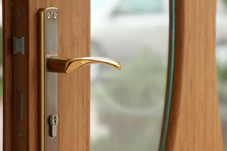 room access: wood door