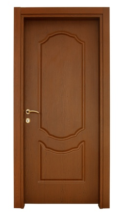 Holz Tür Standard-Bild