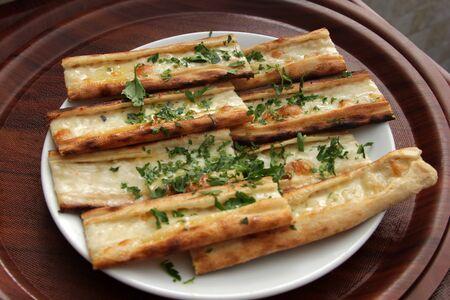 kebob: cheese pita