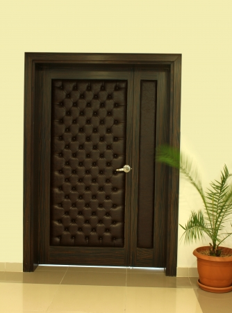 front entry: Wood Door Stock Photo